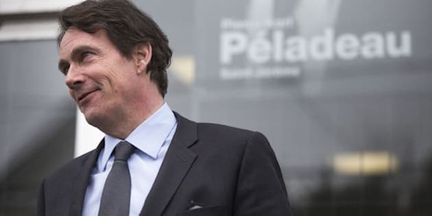 Canadian media tycoon Pierre-Karl Péladeau visits his electoral office on March 27, 2014 in Saint-Jérôme, Canada. Péladeau announced on March 9 he would run as the Parti Québécois candidate for the Saint-Jérôme provincial electoral district, 60kms (37 miles) northwest of Montreal. The party has welcomed Péladeau's commitment to an independent Quebec. The elections are scheduled for April 7, 2014.       AFP PHOTO/Francois Laplante Delagrave        (Photo credit should read Francois Laplante Delagrave/AFP/Getty Images)