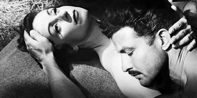 A photo released on December 1955 shows French actress Danielle Darrieux (L) and Italian actor Erno Crisa in the movie 'Lady Chatterley's lover' directed by Marc Allegret.  AFP PHOTO (Photo credit should read -/AFP/Getty Images)