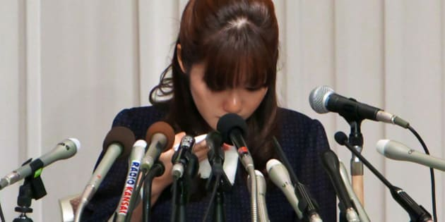 Haruko Obokata, a researcher at Riken research institution, cries during a news conference in Osaka, Japan, on Wednesday, April 9, 2014. Japans Riken research center said on April 1 some data were falsified in a pair of studies that had outlined a simpler, quicker way of making stem cells. Obokata, who had led the studies, told reporters today she was able to replicate STAP stem cells more than 200 times. Photographer: Tetsuya Yamada/Bloomberg via Getty Images