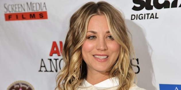 """Kaley Cuoco arrives at the LA Premiere of """"Authors Anonymous"""" on Wednesday, April 9, 2014, in Los Angeles. (Photo by Richard Shotwell/Invision/AP)"""