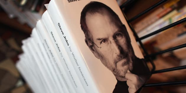 CORAL GABLES, FL - OCTOBER 24: A stack of the newly released biography of Apple co-founder and former CEO Steve Jobs wait for people to pick their pre-ordered copies up at the Books & Books store on October 24, 2011 in Coral Gables, Florida. The book written by Walter Isaacson was slated to be released next year by publisher Simon & Schuster but was pushed up after Jobs died on October 5.  (Photo by Joe Raedle/Getty Images)