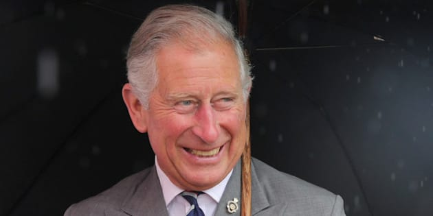 KING'S LYNN, ENGLAND - JULY 31:  Prince Charles, Prince of Wales is presented with a teddy bear for Prince George of Cambridge during a visit to the 132nd Sandringham Flower Show at Sandringham House on July 31, 2013 in King's Lynn, England.  (Photo by Chris Jackson - WPA Pool/Getty Images)