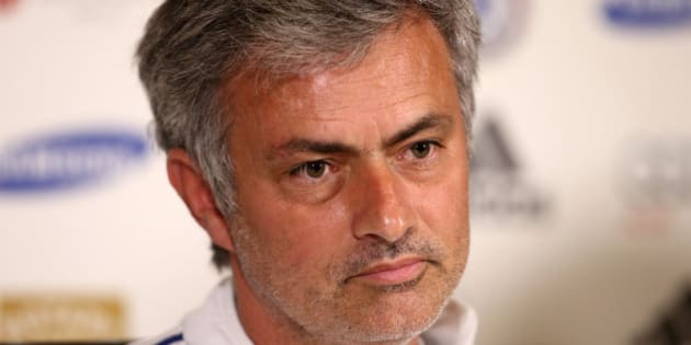 COBHAM, ENGLAND - MAY 02:  Chelsea Manager Jose Mourinho talks to the press at the Chelsea Training Ground on May 2, 2014 in Cobham, England.  (Photo by Jordan Mansfield/Getty Images)