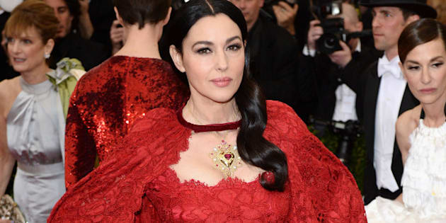 NEW YORK, NY - MAY 05: Monica Bellucci attends the 'Charles James: Beyond Fashion' Costume Institute Gala held at the Metropolitan Museum of Art on May 5, 2014 in New York City.  (Photo by Karwai Tang/FilmMagic)