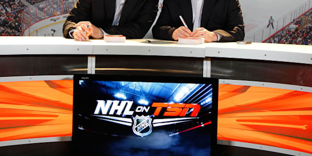 OTTAWA, ON - JANUARY 28:  NHL on TSN Analysts Aaron Ward and Darren Dreger attend the NHL Fan Fair as part of the 2012 NHL All-Star Weekend at Ottawa Convention Centre on January 27, 2012 in Ottawa, Ontario, Canada.  (Photo by Jeff Vinnick/NHLI via Getty Images)