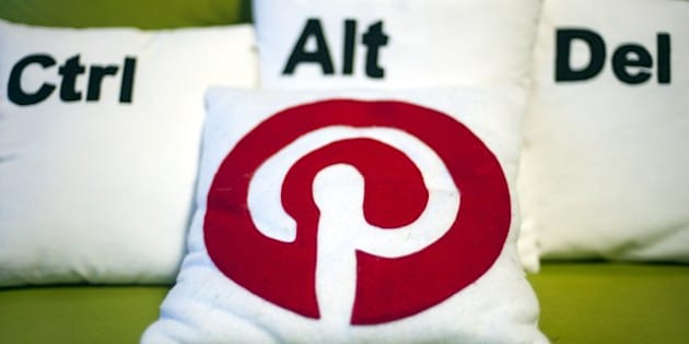 Decorative pillows set the scene at a Pinterest media event at the company's corporate headquarters office in San Francisco, California on April 24, 2014.  Pinterest launched a tool to help people quickly sift through the roughly 30 billion 'Pins' on the service's online bulletin boards to find what they like.      AFP PHOTO / JOSH EDELSON        (Photo credit should read Josh Edelson/AFP/Getty Images)