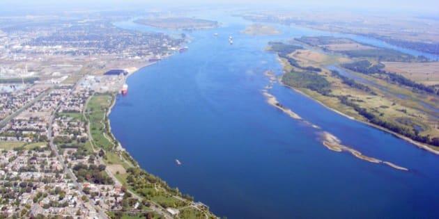 St-Lawrence River (Québec, Canada) - vue d'avion