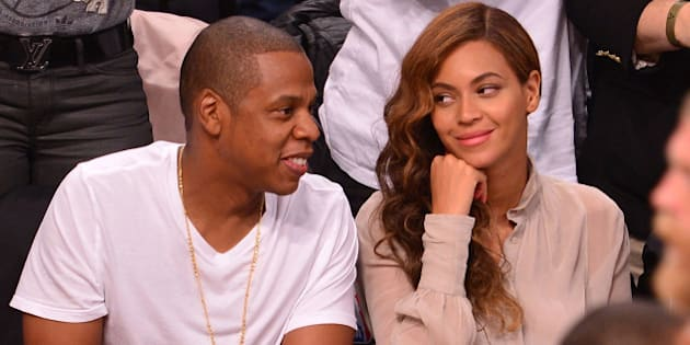 NEW YORK, NY - MAY 10:  Jay-Z and Beyonce Knowles attend the Miami Heat vs Brooklyn Nets playoff game at Barclays Center on May 10, 2014 in the Brooklyn borough of New York City.  (Photo by James Devaney/GC Images)