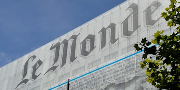 PARIS, FRANCE - MAY 05:  A general view of Le Monde Publishing house's facade is seen on May 5, 2014 in  Paris, France.  (Photo by Pascal Le Segretain/Getty Images)