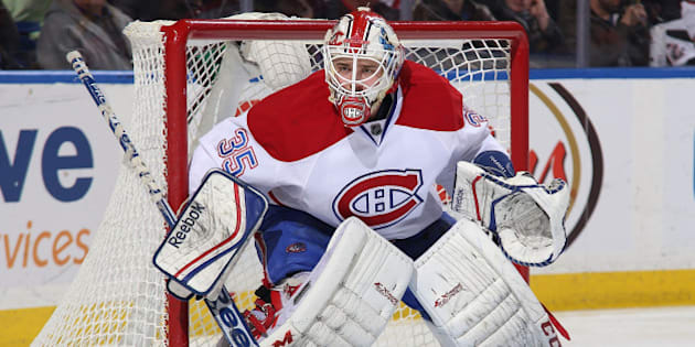 BUFFALO, NY - MARCH 16: Dustin Tokarski #35 of the Montreal Canadiens tends goal against the Buffalo Sabres on March 16, 2014 at the First Niagara Center in Buffalo, New York.  (Photo by Bill Wippert/NHLI via Getty Images)