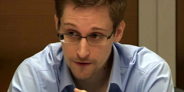 MOSCOW, RUSSIA - OCTOBER 31:  NSA whistleblower Edward Snowden during a meeting with German Green Party MP Hans-Christian Stroebele (not pictured) regarding being a witness for a possible investigation into NSA spying in Germany, on October 31, 2013 in Moscow, Russia. There has been calls in Germany for an investigation into alledged US spying in Germany, which reportedly could include the tapping of German chancellor Angela Merkels phone. (Photo by Sunshinepress/Getty Images)