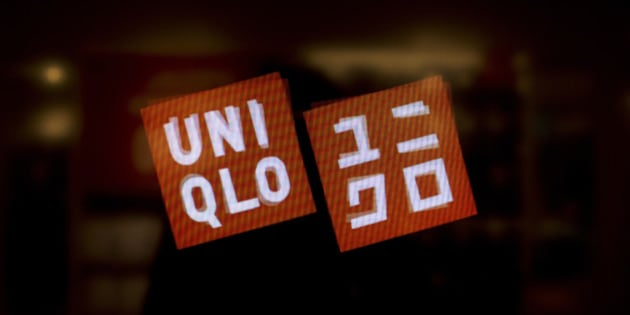 The Uniqlo Co. logo is displayed on a screen at a store on 5th Avenue in New York, U.S., on Tuesday, Jan. 21, 2014. The Bloomberg Consumer Comfort Index, a survey which measures attitudes about the economy, is scheduled to be released on Jan. 23. Photograph: Victor J. Blue/Bloomberg via Getty Images