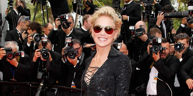 CANNES, FRANCE - MAY 21:  Sharon Stone attends the Premiere of 'The Search' at the 67th Annual Cannes Film Festival on May 21, 2014 in Cannes, France.  (Photo by Michel Dufour/Getty Images)