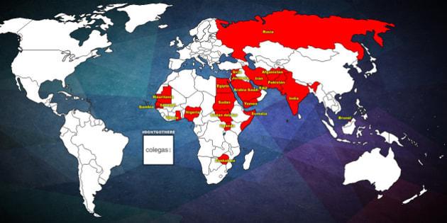 Conoce cuáles países son los más y los menos homofóbicos