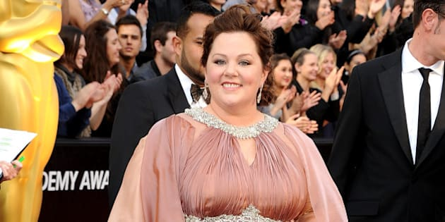 HOLLYWOOD, CA - FEBRUARY 26:  Melissa McCarthy arrives at the 84th Annual Academy Awards at Grauman's Chinese Theatre on February 26, 2012 in Hollywood, California.  (Photo by Steve Granitz/WireImage)