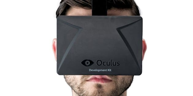 Portrait of a man wearing a development stage Oculus Rift virtual reality mask, taken on April 16, 2013. (Photo by David Caudery/Edge Magazine via Getty Images)