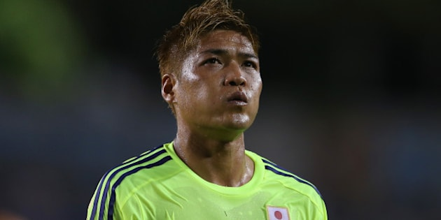 TAMPA, FL - JUNE 02:  Yoshito Okubo of Japan looks on during the International Friendly Match between Japan and Costa Rica at Raymond James Stadium on June 2, 2014 in Tampa, Florida.  (Photo by Mark Kolbe/Getty Images)