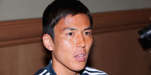 CLEARWATER, FL - MAY 30:  Makoto Hasebe of Japan speaks to the press during a media session at the Hyatt Regency Clearwater Beach Resort and Spa on May 30, 2014 in Clearwater, Florida.  (Photo by Mark Kolbe/Getty Images)