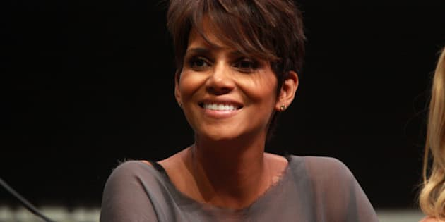 """Halle Berry speaking at the 2013 San Diego Comic Con International, for """"X-Men: Days of Future Past"""", at the San Diego Convention Center in San Diego, California.  Please attribute to Gage Skidmore if used elsewhere."""