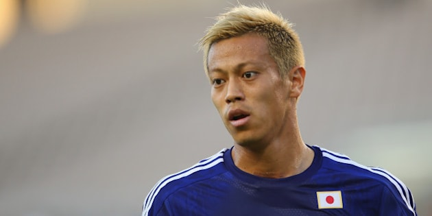 CLEARWATER, FL - JUNE 06: Keisuke Honda of Japan looks on during the International Friendly Match between Japan and Zambia at Raymond James Stadium on June 6, 2014 in Clearwater, Florida.  (Photo by Mark Kolbe/Getty Images)