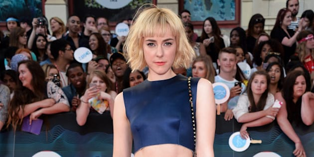 TORONTO, ON - JUNE 15:  Jena Malone arrives at the 2014 MuchMusic Video Awards at MuchMusic HQ on June 15, 2014 in Toronto, Canada.  (Photo by George Pimentel/WireImage)