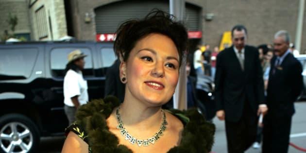 Inuk throat singer Tanya Tagaq arrives for gala screening of the movie  The Journals of Knud Rasmussen  during Toronto International Film Festival in Torornto, Thursday, Sep. 7, 2006. (AP Photo/Chitose Suzuki)