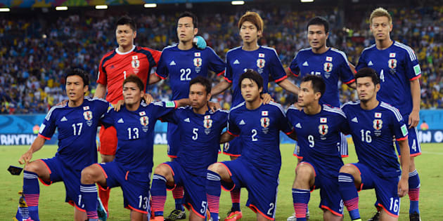 NATAL, BRAZIL - JUNE 19: Japan pose for a team photo during the 2014 FIFA World Cup Brazil Group  C match between Japan and Greece at Estadio das Dunas on June 19, 2014 in Natal, Brazil.  (Photo by Jamie McDonald/Getty Images)