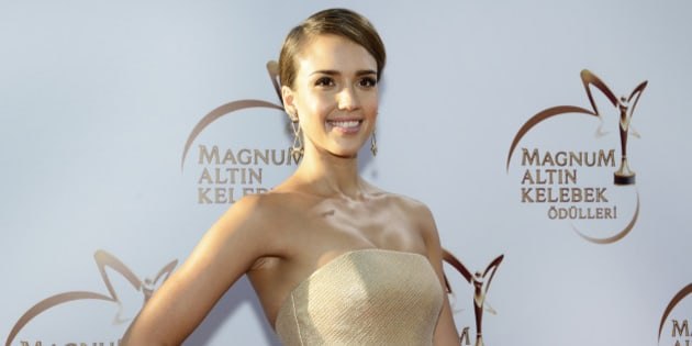 ISTANBUL, TURKEY - JUNE 22:  Jessica Alba attends the Magnum Golden Butterfly Awards at Zorlu Center on June 22, 2014 in Istanbul, Turkey.  (Photo by S. Alemdar/Getty Images)