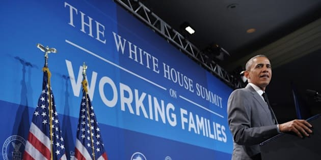 US President Barack Obama speaks during the White House Summit on Working Families on June 23, 2014 at a hotel in Washington, DC. AFP PHOTO/Mandel NGAN        (Photo credit should read MANDEL NGAN/AFP/Getty Images)