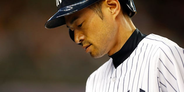NEW YORK, NY - JUNE 27:  Ichiro Suzuki #31 of the New York Yankees goes back to the dugout after flying out in the sixth inning against the Boston Red Sox at Yankee Stadium on June 27, 2014 in the Bronx borough of New York City.  (Photo by Jim McIsaac/Getty Images)