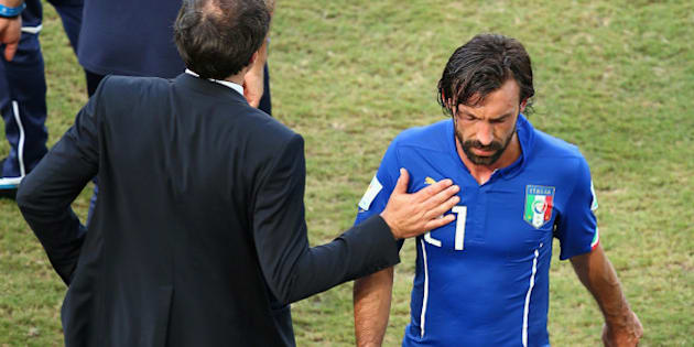 NATAL, BRAZIL - JUNE 24:  Andrea Pirlo of Italy walks off the pitch after the 2014 FIFA World Cup Brazil Group D match between Italy and Uruguay at Estadio das Dunas on June 24, 2014 in Natal, Brazil.  (Photo by Julian Finney/Getty Images)