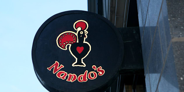 General view of a Nando's branch in central London.
