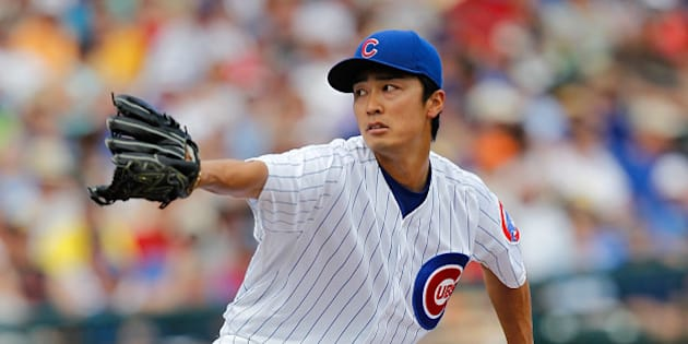 GOODYEAR, AZ - MARCH 25:  Tsuyoshi Wada #67 of the Chicago Cubs pitches during a game against the Los Angeles Angels at Goodyear Ballpark on March 25, 2014 in Goodyear, Arizona.  (Photo by Sarah Glenn/Getty Images)