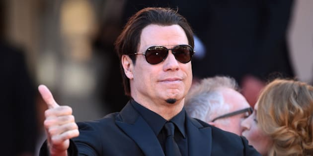 CANNES, FRANCE - MAY 23:  John Travolta attends the 'Clouds Of Sils Maria' premiere during the 67th Annual Cannes Film Festival on May 23, 2014 in Cannes, France.  (Photo by Ian Gavan/Getty Images)