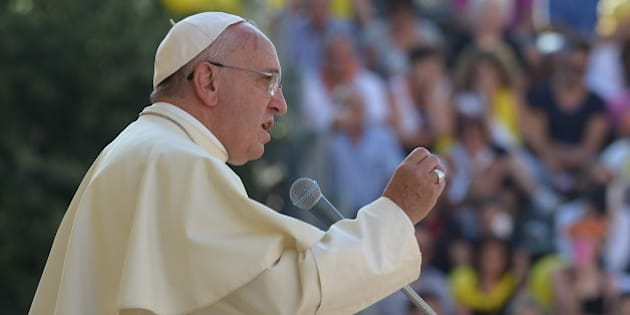 Pope Francis Francis delivers a speech in Isernia, southern Italy, on July 5, 2014 as part of a one day visit in the Molise region. AFP PHOTO / ALBERTO PIZZOLI        (Photo credit should read ALBERTO PIZZOLI/AFP/Getty Images)