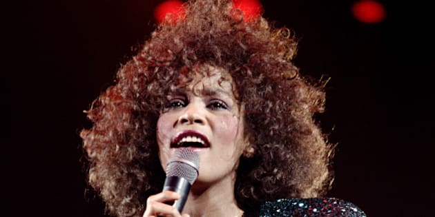 A file picture taken on May 18, 1988 in Paris shows US singer Whitney Houston performing at the POPB (Bercy hall). Grammy-winning pop legend and actress Whitney Houston, 48, was found dead on February 11, 2012 in a Beverly Hills hotel, police said. AFP PHOTO BERTRAND GUAY        (Photo credit should read BERTRAND GUAY/AFP/GettyImages)