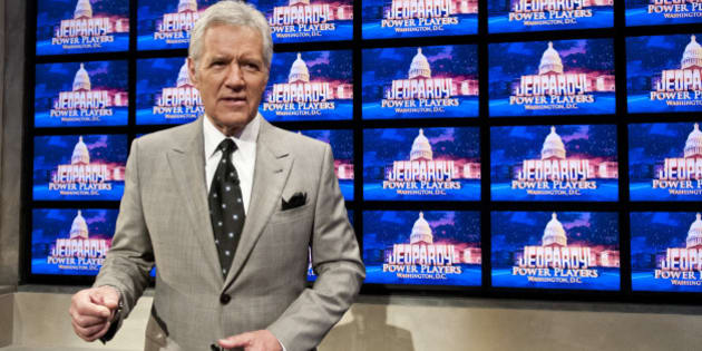 WASHINGTON, DC - APRIL 21: Alex Trebek speaks during a rehearsal before a taping of  Jeopardy! Power Players Week at DAR Constitution Hall on April 21, 2012 in Washington, DC. (Photo by Kris Connor/Getty Images)
