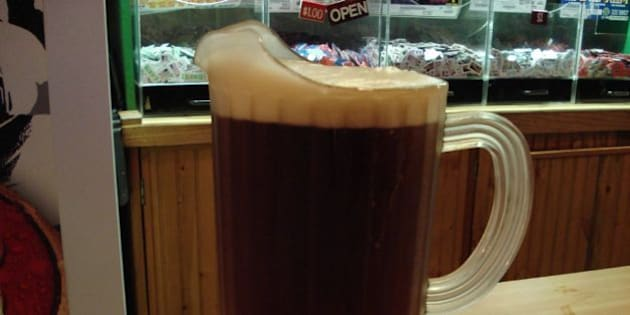 Pitcher of cold beer