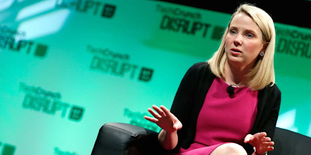 NEW YORK, NY - MAY 07:  Yahoo! CEO, Marissa Mayer speaks at TechCrunch Disrupt NY 2014 - Day 3 on May 7, 2014 in New York City.  (Photo by Brian Ach/Getty Images for TechCrunch)