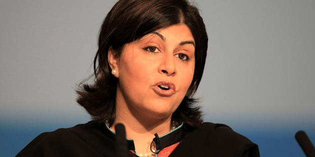 Baroness Warsi speaks during the opening session of the Annual Conservative Party Conference at the International Convention Centre, Birmingham.