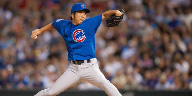 DENVER, CO - AUGUST 06:  Kyuji Fujikawa #11 of the Chicago Cubs pitches in the sixth inning of a game against the Colorado Rockies at Coors Field on August 6, 2014 in Denver, Colorado.  (Photo by Dustin Bradford/Getty Images)