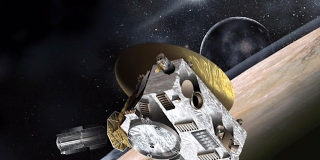 """<b> In this image:</b> Artist concept of New Horizons spacecraft. (Credit: Johns Hopkins/Applied Physics Laboratory. For print or commercial use, please contact: Smithsonian Institution.)  <b>One Year and Counting!</b> NASA's New Horizons mission kicks off a """"Year of Pluto"""" with an event on <b>Wednesday, July 16</b>, at the Smithsonian National Air and Space Museum in Washington, D.C. New Horizons Principal Investigator Alan Stern headlines a lecturethat also features New Horizons science team co-investigator William McKinnon and award winning author Dava Sobel.   Learn more and join the chat: <a href=""""http://airandspace.si.edu/events/detail.cfm?id=9928"""" rel=""""nofollow"""">airandspace.si.edu/events/detail.cfm?id=9928</a>"""