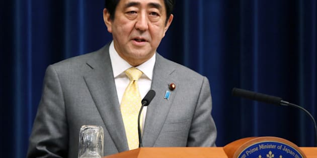 Shinzo Abe, Japan's prime minister, speaks during a news conference at the prime minister's official residence in Tokyo, Japan, on Monday, March 10, 2014. Japan's economy expanded less than estimated in the fourth quarter and the current-account deficit widened to a record in January, highlighting risks to Abenomics as a sales-tax increase looms. Photographer: Haruyoshi Yamaguchi/Bloomberg via Getty Images