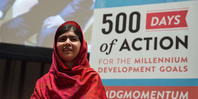 NEW YORK, NY - AUGUST 18:  Malala Yousafzai, an education and women's rights activist, attends a conference on the United Nation's (UN) Millenium Development Goals on August 18, 2014 in New York City. Malala also met with UN Secretary General Ban Ki-Moon.  (Photo by Andrew Burton/Getty Images)