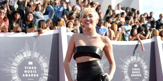 INGLEWOOD, CA - AUGUST 24:  Miley Cyrus attends the 2014 MTV Video Music Awards at The Forum on August 24, 2014 in Inglewood, California.  (Photo by Michael Kovac/WireImage)