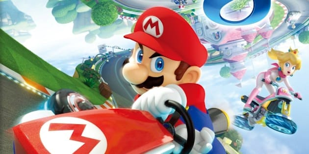 "This image released Nintendo shows the video game cover art for ""Mario Kart 8."" (AP Photo/Nintendo)"