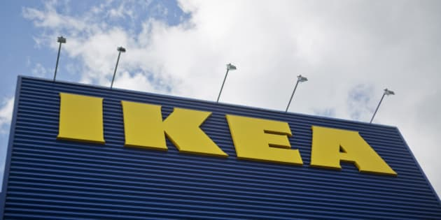 The Ikea AB logo sits on  a store in Stockholm, Sweden, on Wednesday, June 13, 2012. IKEA, the retailer known for its self-assembled furniture, has started selling smart televisions integrated into cabinets and stands with speakers and blu-ray players in a bid to tap into the market for home theater systems. Photographer: Casper Hedberg/Bloomberg via Getty Images