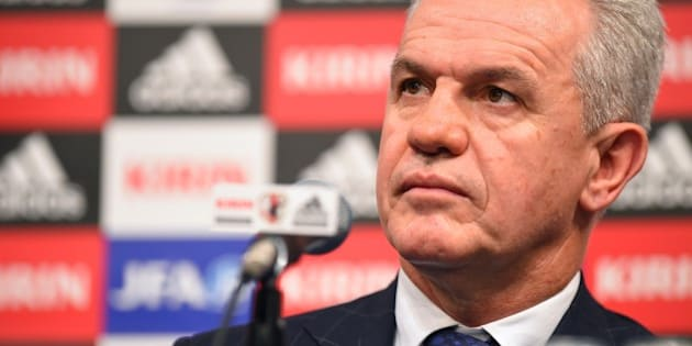 TOKYO, JAPAN - AUGUST 11:  New Manager for Japan National Soccer Team Javier Aguirre speaks during a press conference upon arrival in Japan at the Grand Prince Hotel Takanawa on August 11, 2014 in Tokyo, Japan.  (Photo by Masterpress/Getty Images)