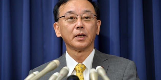 Japanese Justice Minister Sadakazu Tanigaki announces the execution of Tokuhisa Kumagai, who was convicted of shooting in the head and robbed the owner of a Chinese restaurant in May 2004, at a press conference at his office in Tokyo on September 12, 2013. Japan hanged the 73-year-old robbery-murder convict, bringing to six the number of death-row inmates executed since the conservative government came to power in December.   AFP PHOTO / Yoshikazu TSUNO        (Photo credit should read YOSHIKAZU TSUNO/AFP/Getty Images)