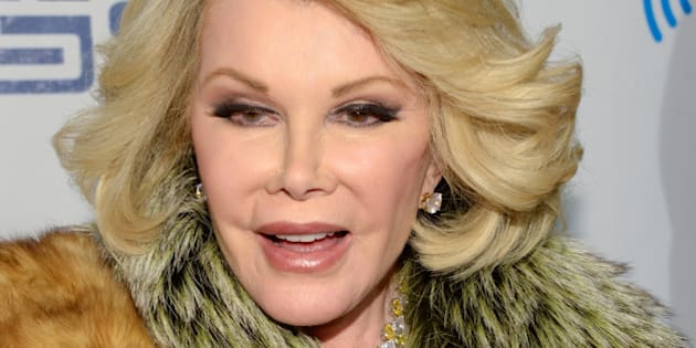 """Joan Rivers attends """"Howard Stern's Birthday Bash"""", presented by SiriusXM, at the Hammerstein Ballroom on Friday, Jan. 31, 2014 in New York.  (Photo by Evan Agostini/Invision/AP)"""